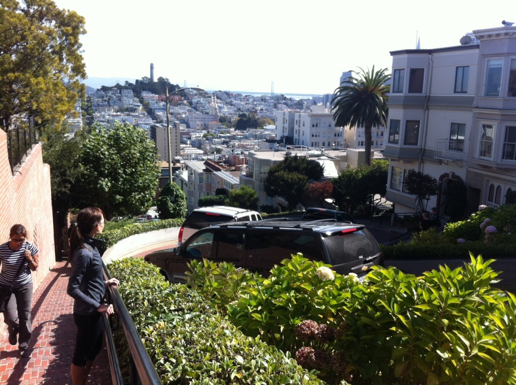 View of Lombard Street.
