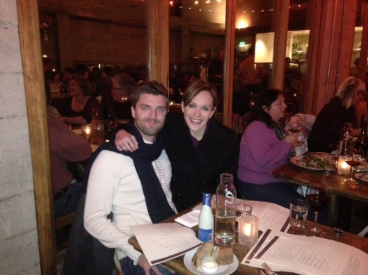 Do we look cold?  Wore my jacket the whole dinner!