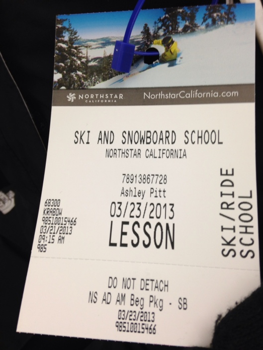 Official lesson pass for the Northstar Ski and Snowboard school.