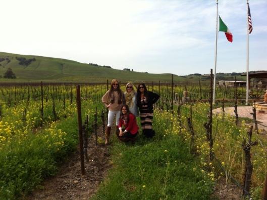 Vineyard girls at Robledo.