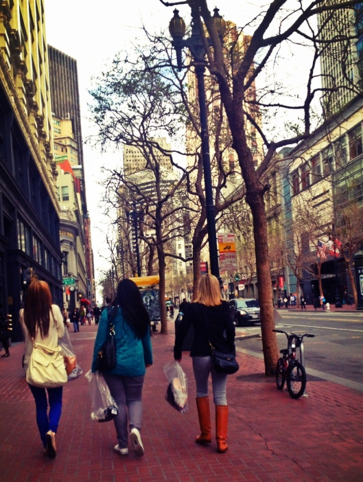 Shopping the streets of SF.