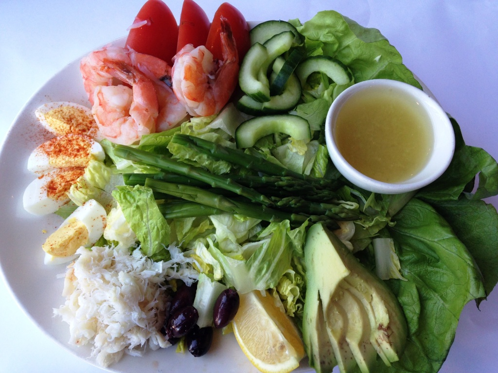 Seafood Louie salad